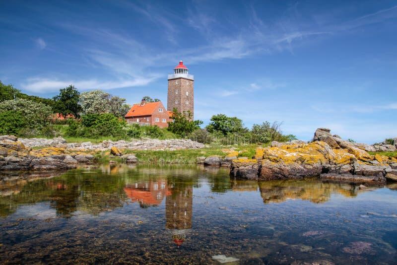 Faro de Svaneke fotos de archivo