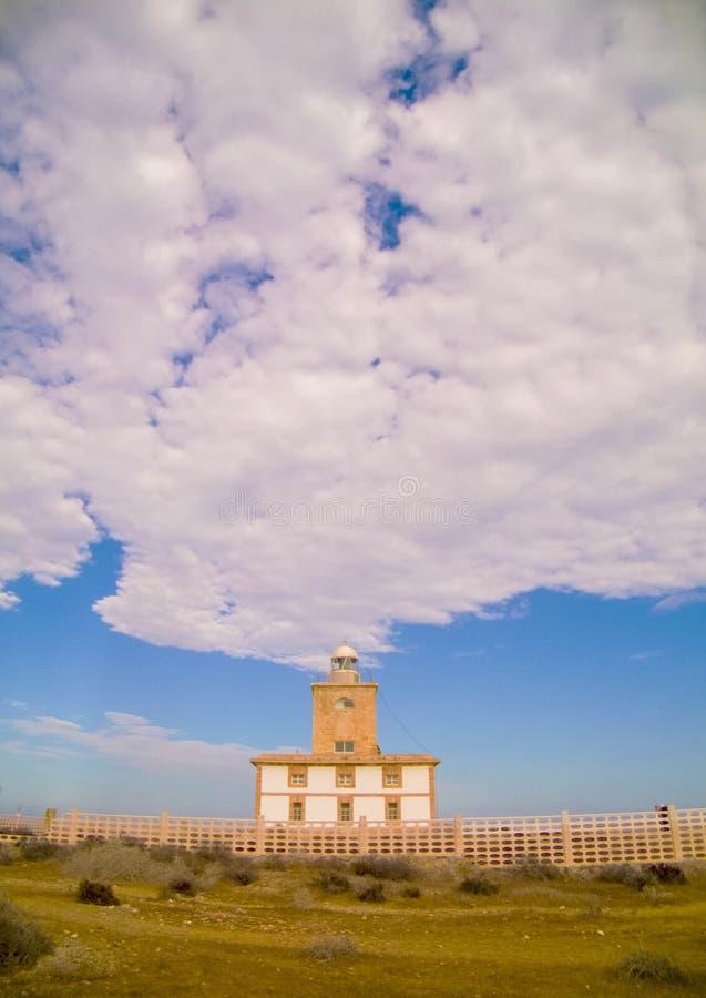 Faro de Tabarca/Tabarca fyr royaltyfria foton