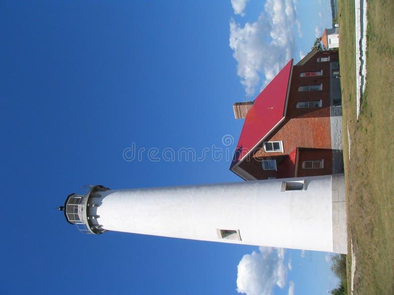 Download Faro de Tawas imagen de archivo. Imagen de barco, herboso - 1291919