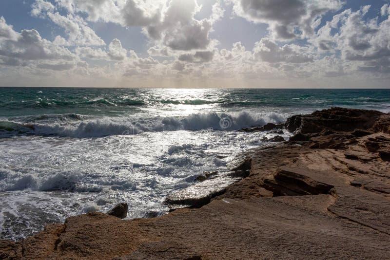 Faro del cabo Trafalgar, Cádiz España fotografía de archivo libre de regalías