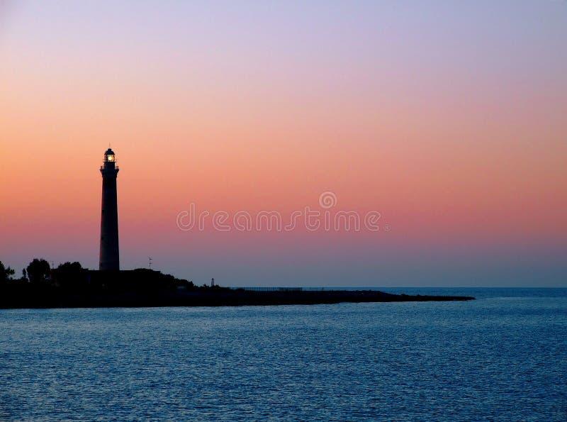 Faro del Capo del San Vito Lo immagine stock libera da diritti