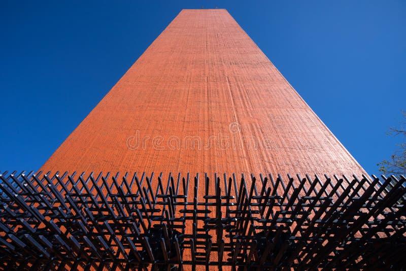 Faro Del Comercio Monterrey Meksyk zdjęcie stock