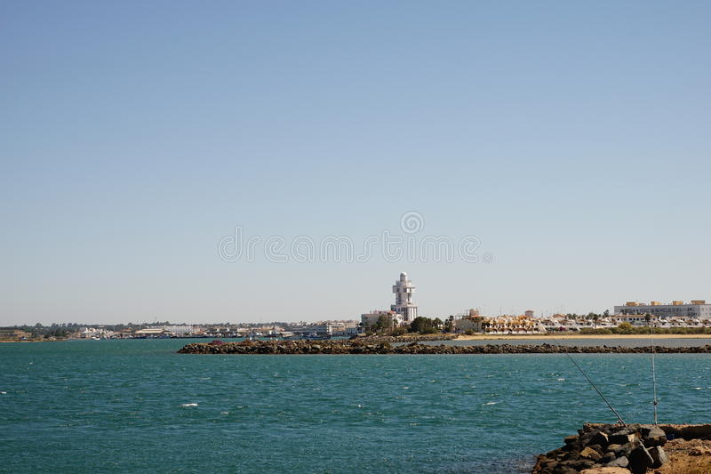 Faro del isla Cristina fotografía de archivo libre de regalías