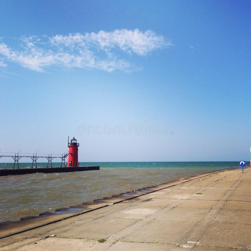 Faro del lago Michigan imagen de archivo