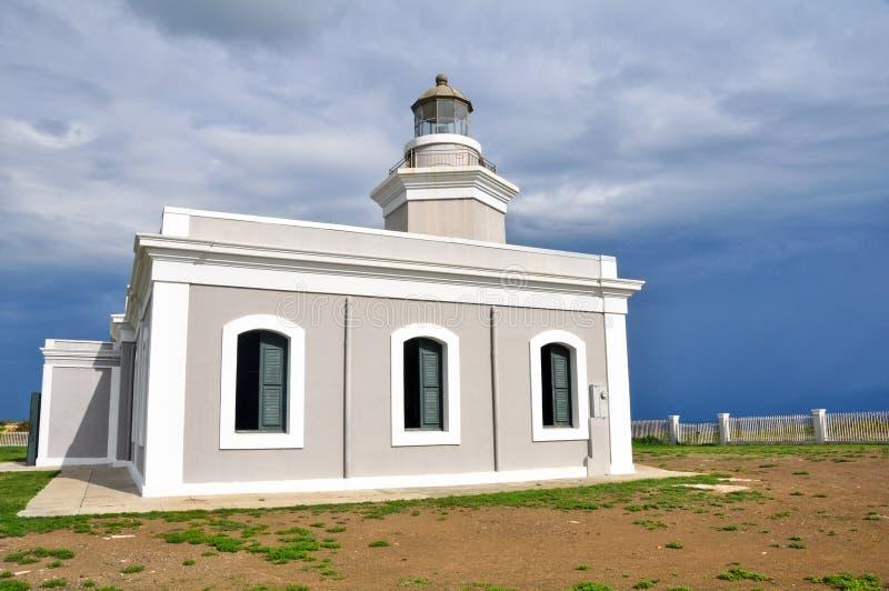 Faro del Los Morillos en el cabo de Rojo, Puerto Rico fotografía de archivo libre de regalías
