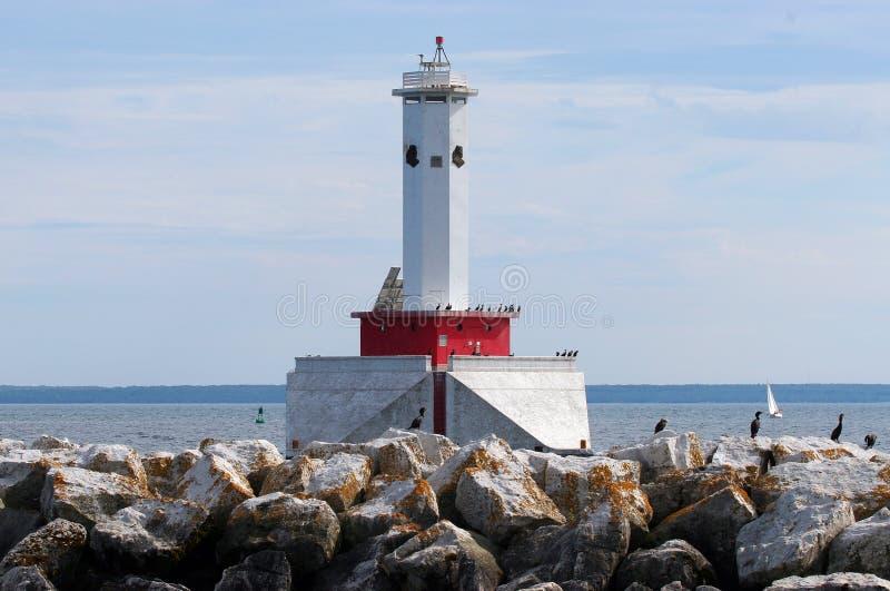 Faro del Michigan immagini stock libere da diritti