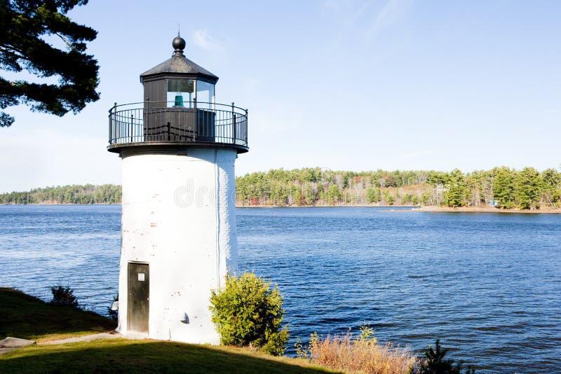 Faro del molino de Whitlocks, Calais, Maine, los E.E.U.U. fotos de archivo