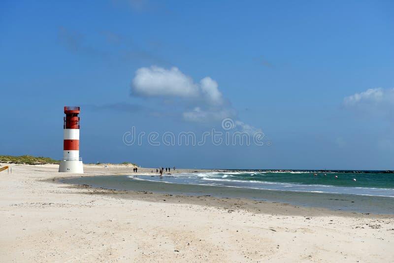 Faro del Ne del ¼ di DÃ, Helgoland immagini stock