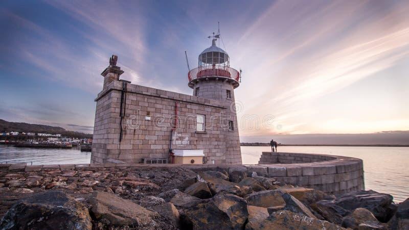 Faro del porto di Howth fotografie stock