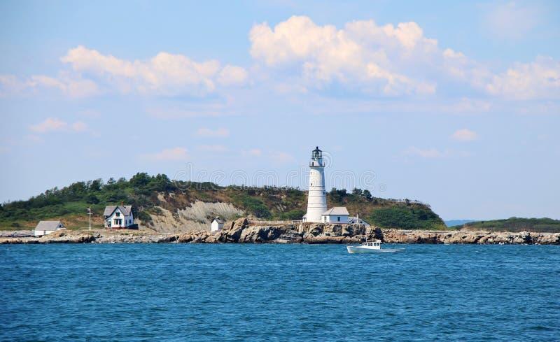 Faro del puerto de Boston imagen de archivo