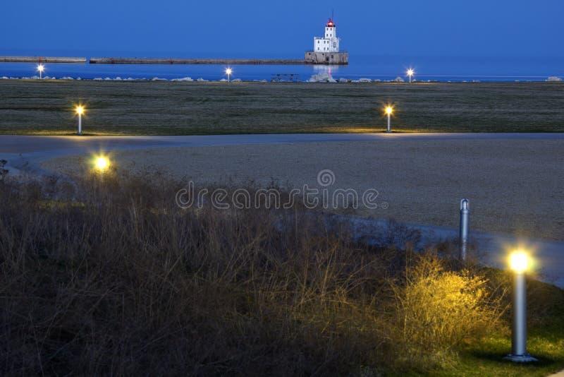 Faro del puerto de Milwaukee imagen de archivo libre de regalías