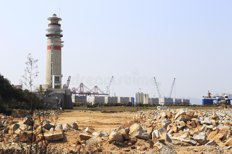 Faro del puerto del zhangzhou fotos de archivo libres de regalías