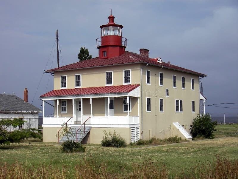 Faro del puesto de observación de la punta imagen de archivo