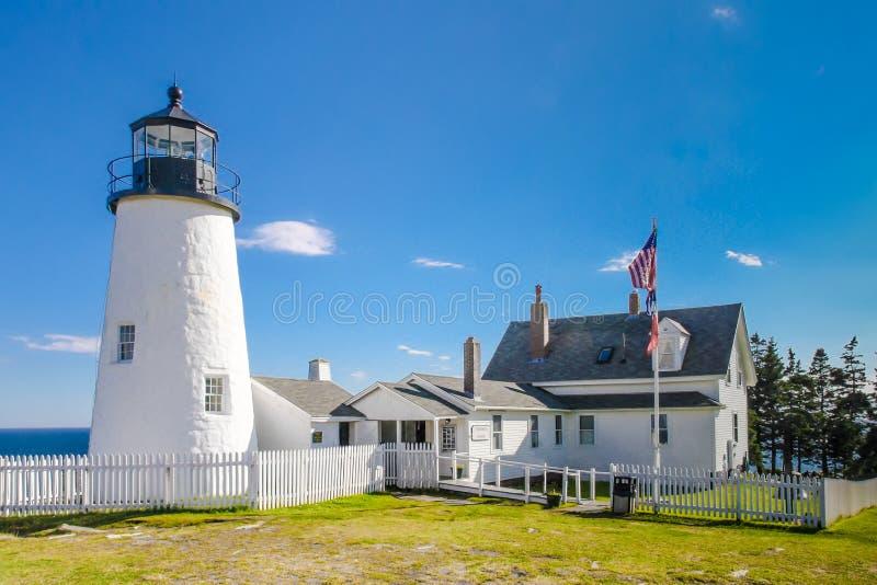 Faro del punto de Pemaquid, Maine imagenes de archivo