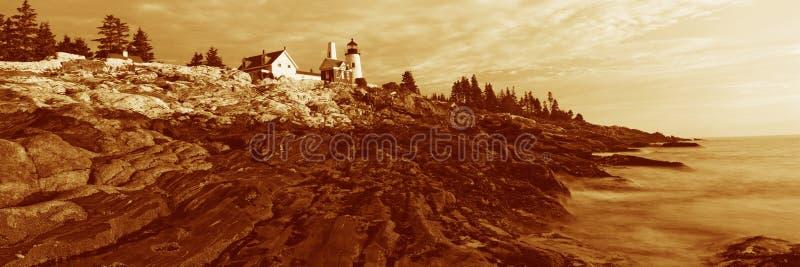 Faro del punto di Pemaquid, Maine fotografie stock libere da diritti