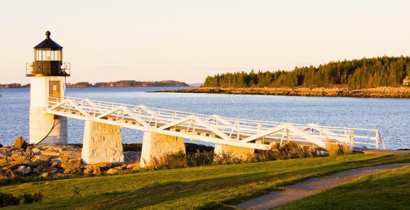 Faro del punto del Marshall, Maine, S immagini stock