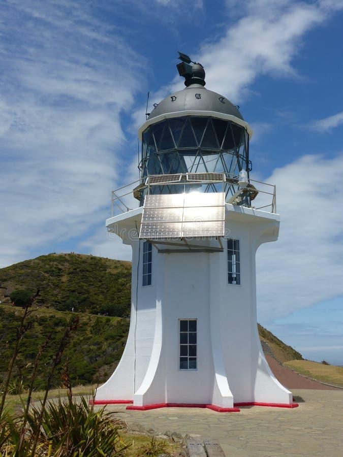 Faro del reinga del cabo, Nueva Zelanda, isla del norte imágenes de archivo libres de regalías