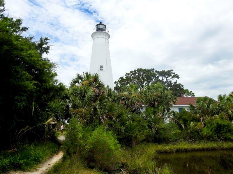 Faro del ` s de St Mark apenas al sur de Tallahassee fotografía de archivo