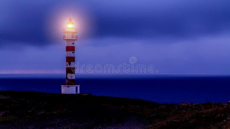 Faro del Sardina en el gran Canaria imagenes de archivo