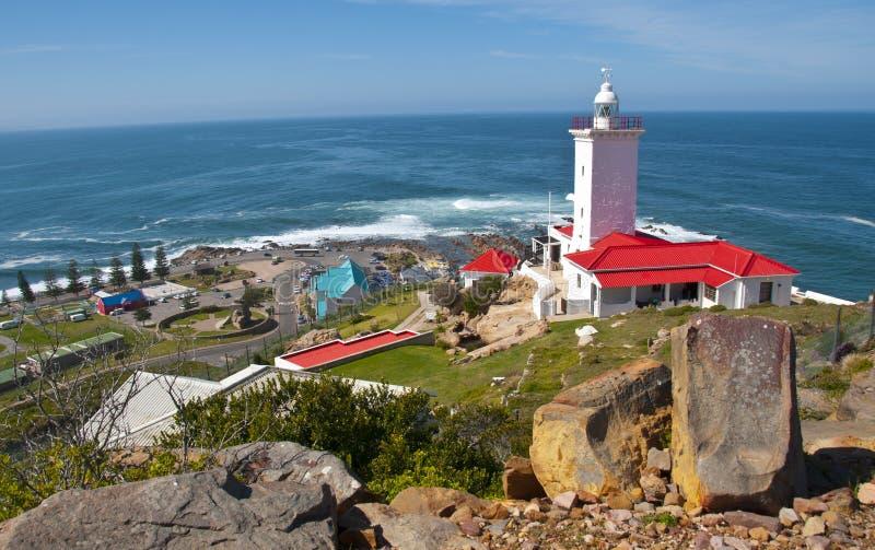 Faro del St Blaize del cabo, bahía de Mossel, Suráfrica imágenes de archivo libres de regalías