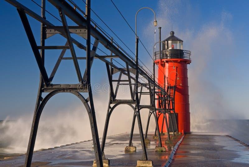 Faro del sud del porto fotografie stock