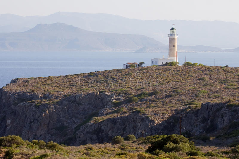 Faro dell'isola di Kithira fotografie stock
