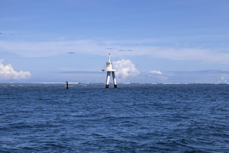 Faro della baia di Momi fotografia stock libera da diritti