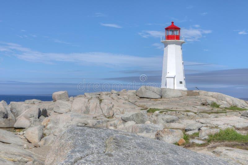 Faro della baia di Peggys, Nova Scotia, Canada fotografia stock