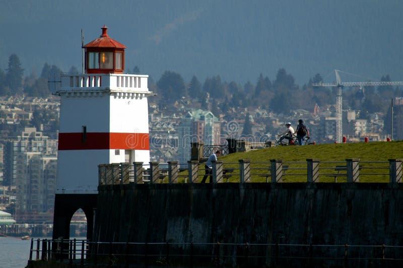 Faro della sosta di Stanley - Vancouver BC immagine stock libera da diritti