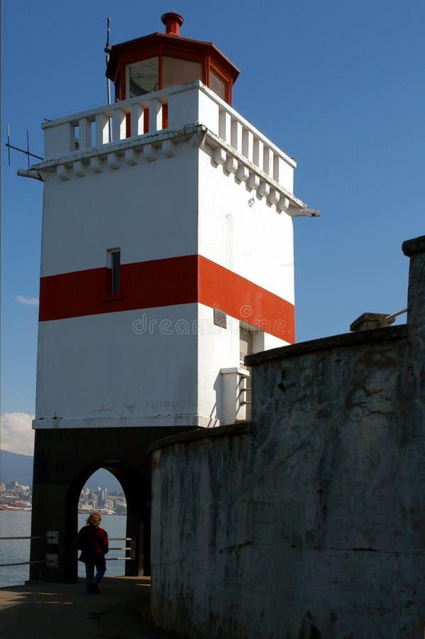 Faro della sosta di Stanley - Vancouver BC fotografie stock libere da diritti