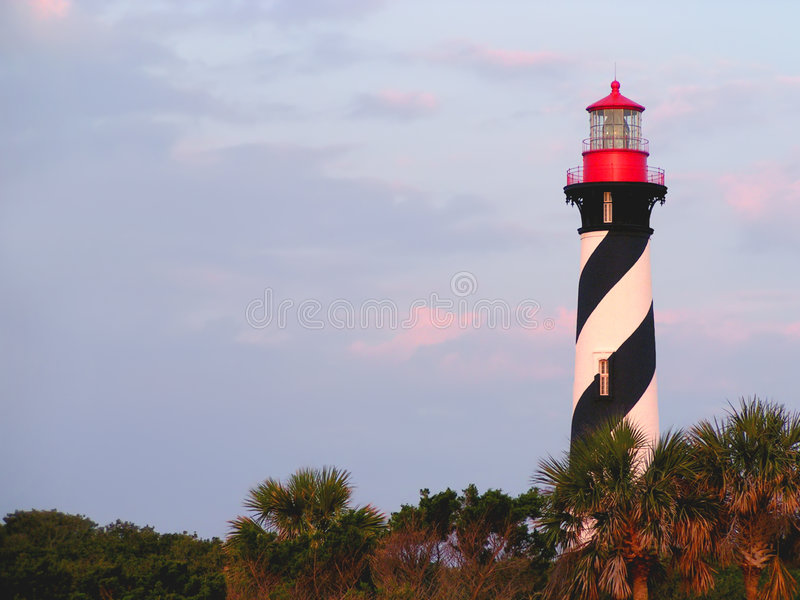 Faro della st Augustine, Florida immagini stock