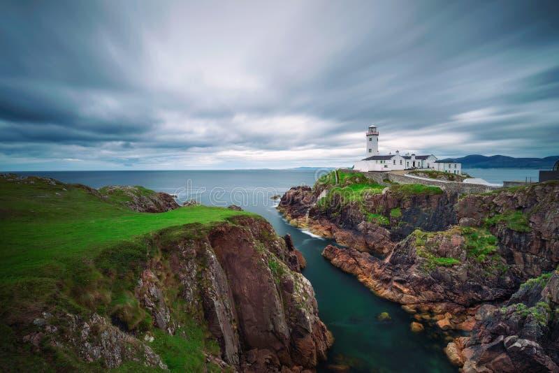 Faro della testa di Fanad in Irlanda fotografia stock