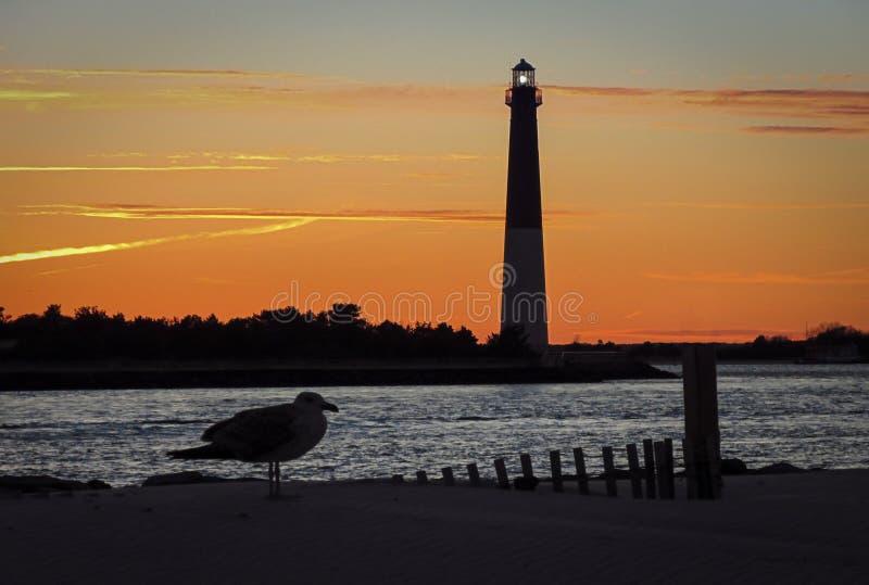 Faro di Barnegat nel New Jersey immagini stock libere da diritti