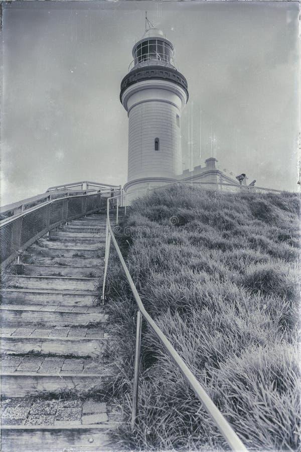 Faro di Byron del capo fotografie stock libere da diritti