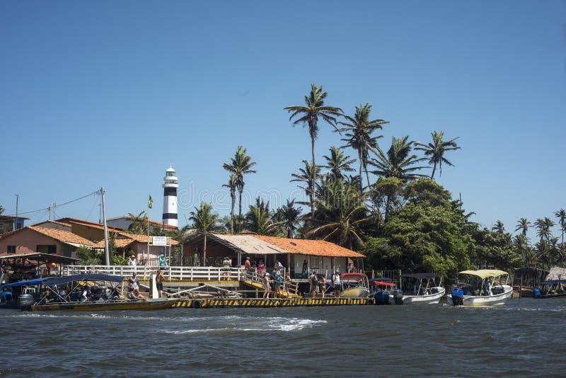 Faro di Cabure, parco nazionale di Lencois, Brasile immagine stock libera da diritti