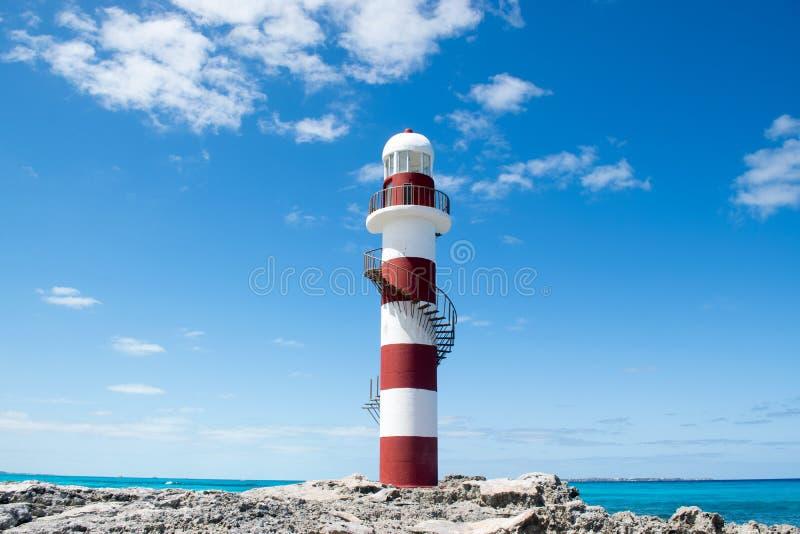Faro di Cancun in Quintana Roo immagine stock libera da diritti