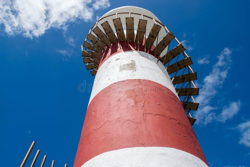 Faro di Cancun in Quintana Roo immagine stock