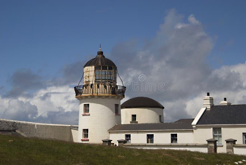 Faro di Carrickfada, isola della Clare fotografie stock