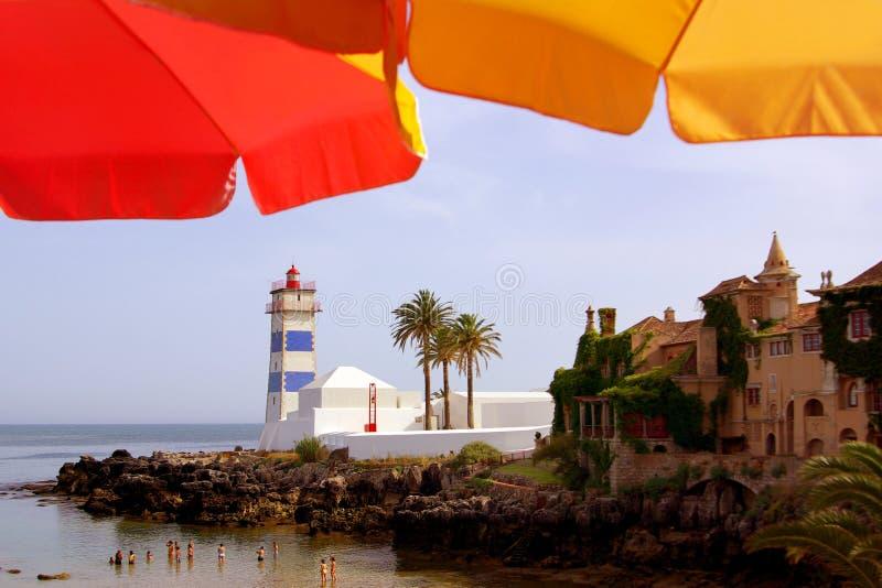 Faro di Cascais fotografie stock