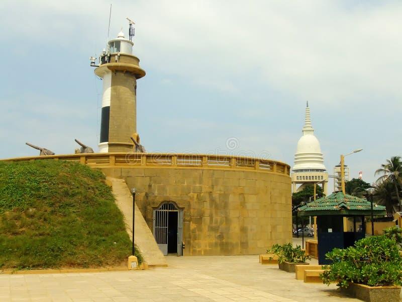 Faro di Colombo, punto di Galbokka fotografia stock