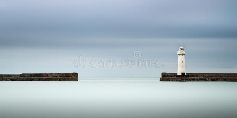 Faro di Donaghadee immagini stock libere da diritti
