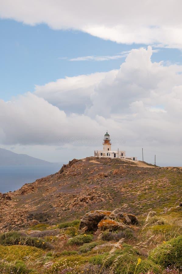 Faro di Fanari in Mykonos immagini stock