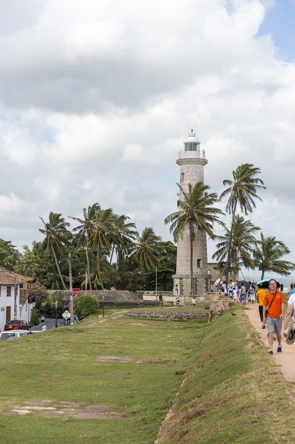 Faro di Galle, Sri Lanka fotografie stock
