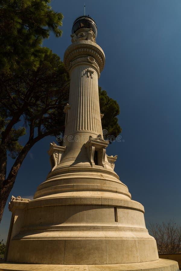 Faro di Gianicolo o di Janiculum fotografia stock libera da diritti