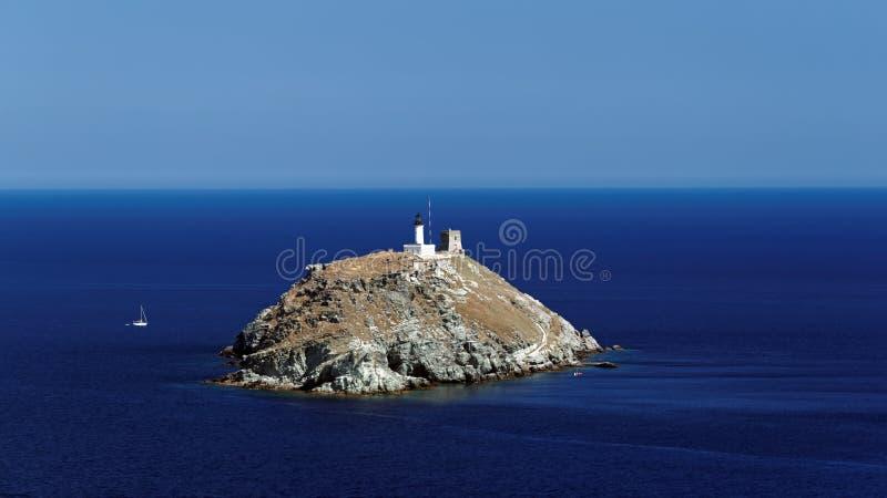 Faro di Giraglia in capo corso fotografie stock