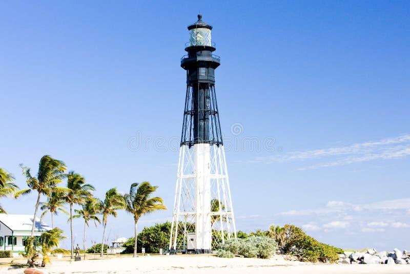 Faro di Hillsboro, spiaggia della leccia, Florida, U.S.A. immagini stock libere da diritti