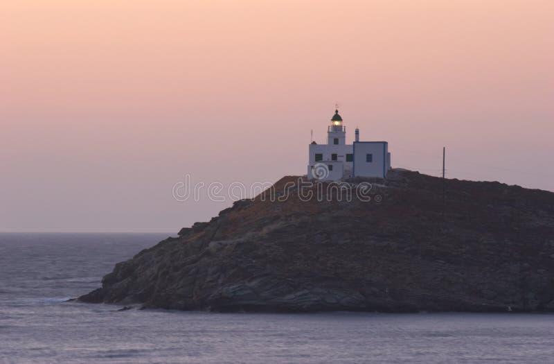 Faro di Kea immagine stock