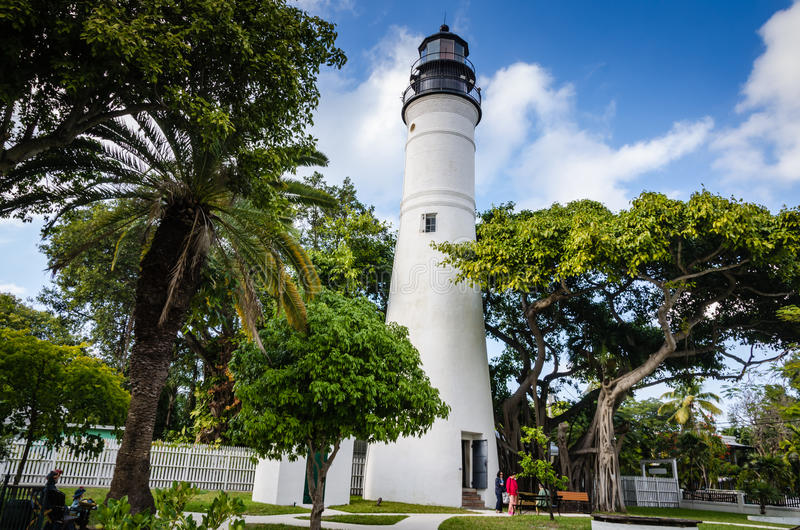 Faro di Key West - Key West, Florida fotografia stock libera da diritti