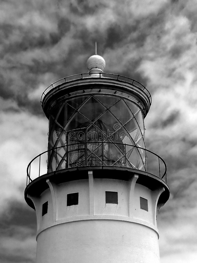 Faro di Kilauea fotografia stock
