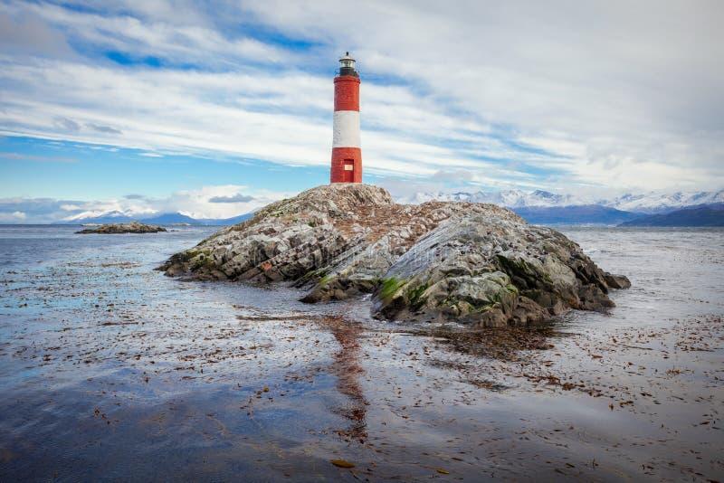 Faro di Les Eclaireurs, Ushuaia fotografie stock libere da diritti